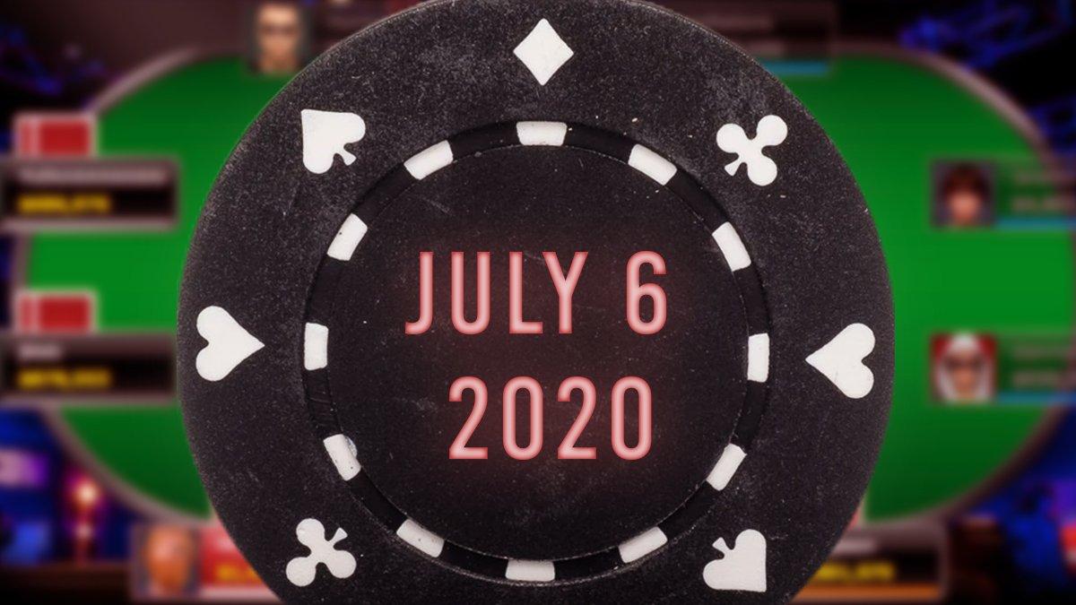 Black Poker Chip Dengan 6 Juli 2020 Teks