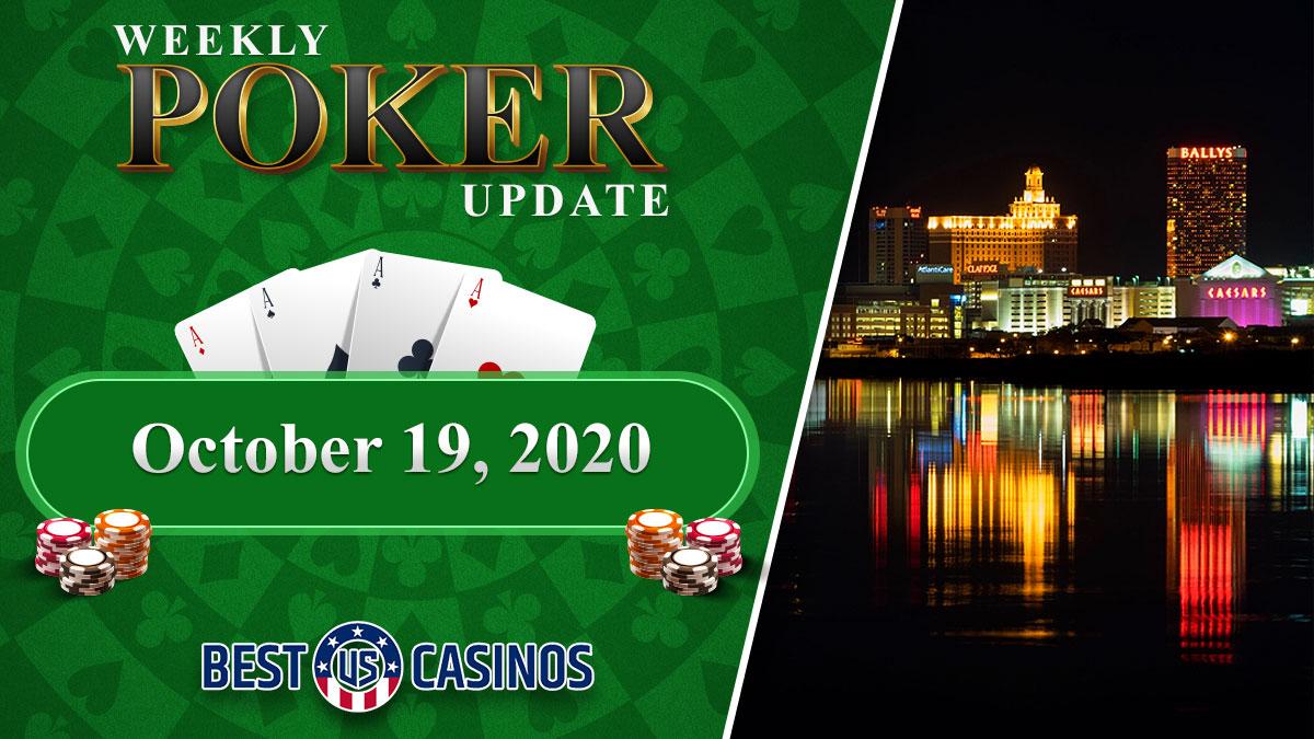 Teks Pembaruan Poker Mingguan dan Skyline Kota Atlantik