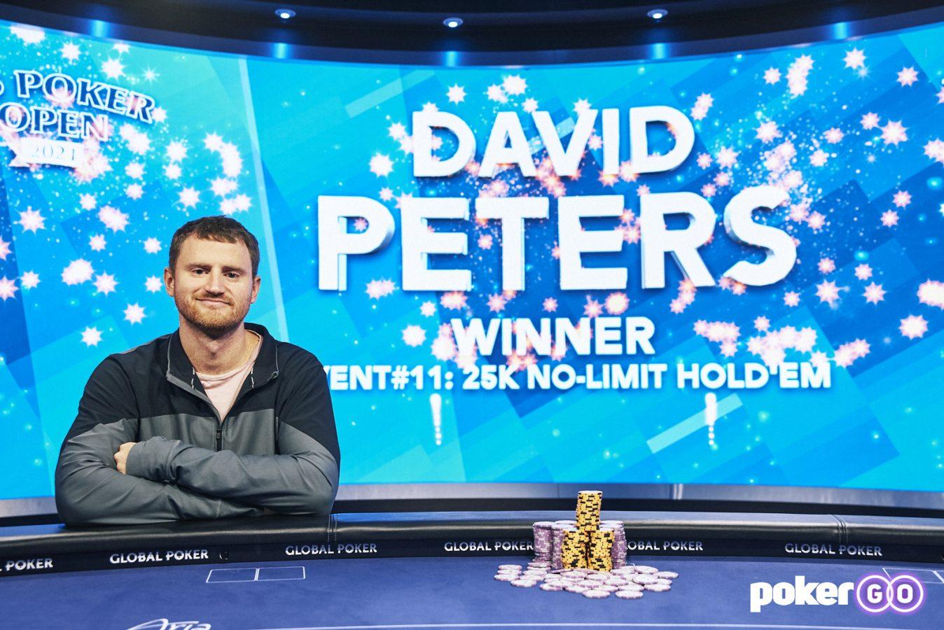 David Peters Wins Takes Down A.S. Poker Open $25.000 untuk Judul #3
